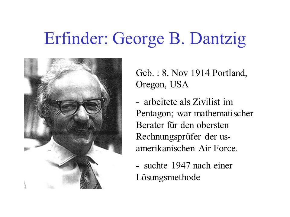 Erfinder: George B.Dantzig Geb. : 8.