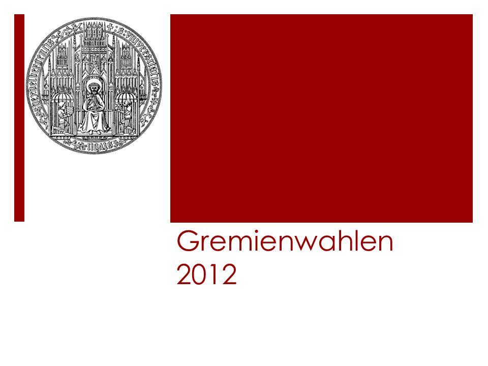 Gremienwahlen 2012