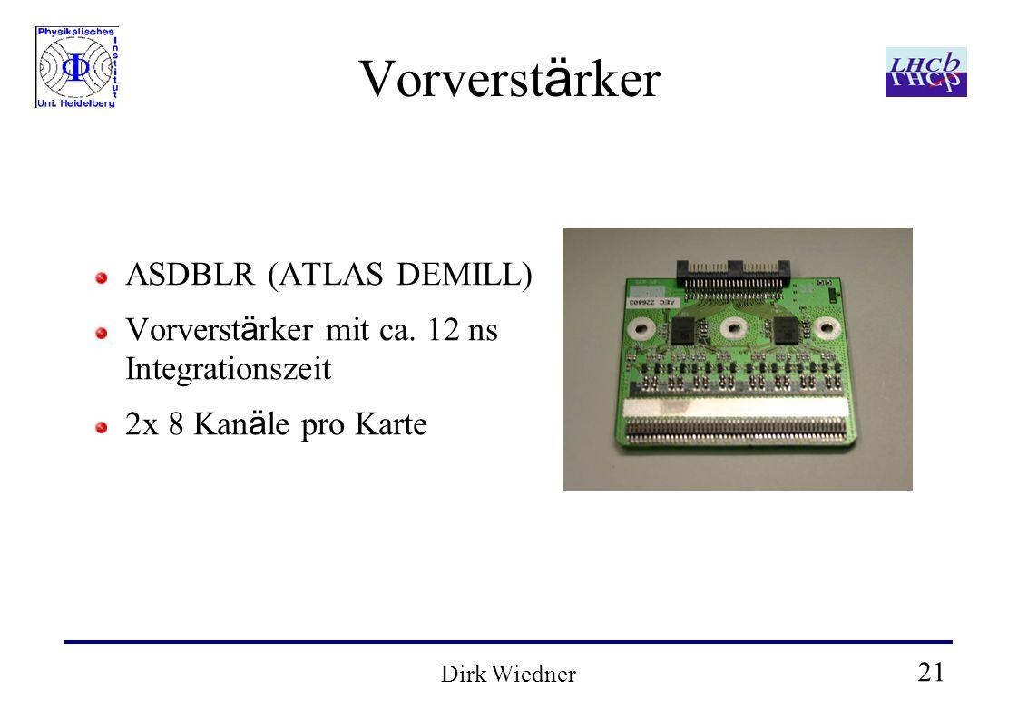 21 Dirk Wiedner Vorverst ä rker ASDBLR (ATLAS DEMILL) Vorverst ä rker mit ca.