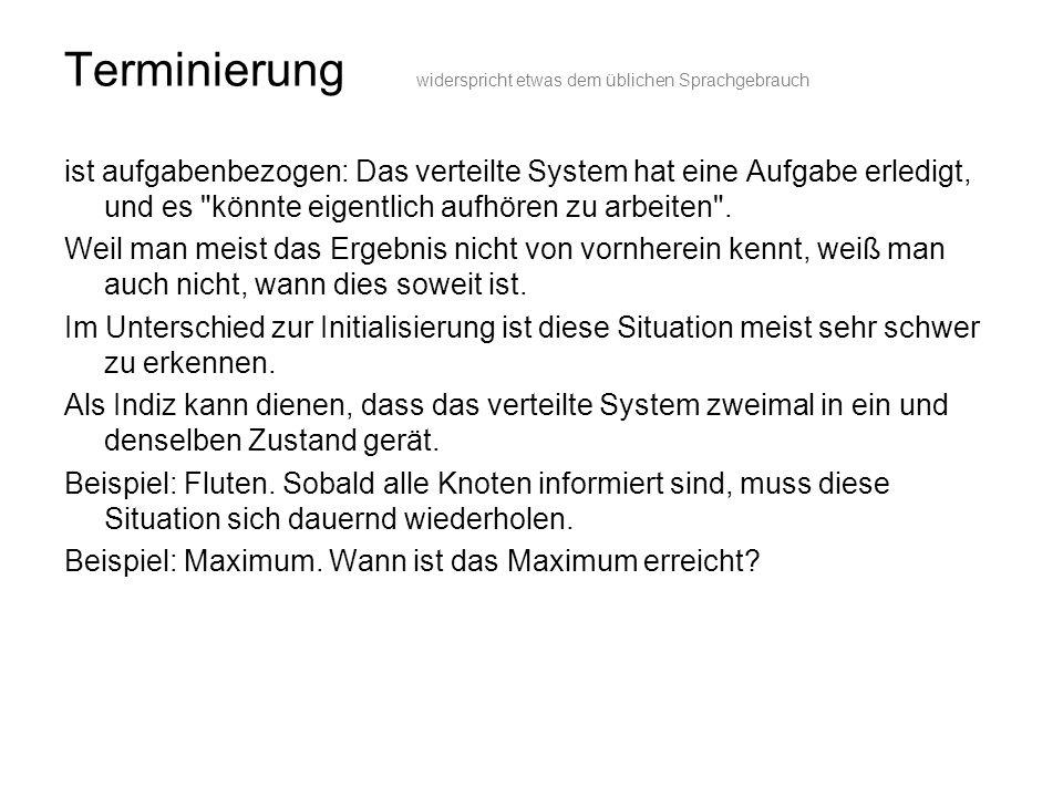 Halteproblem (der Turingmaschine) Nicht: Erkennen, dass die gegebene Aufgabe erledigt ist.