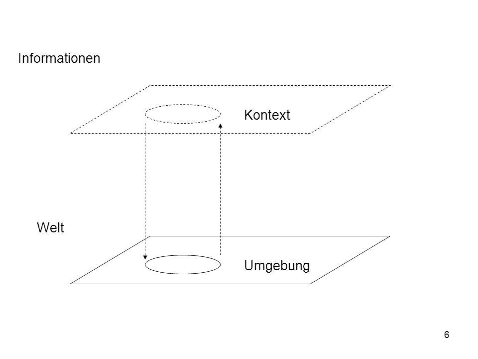 7 Kontext, Objekt Wir können immer nur einen Ausschnitt der Welt beschreiben.