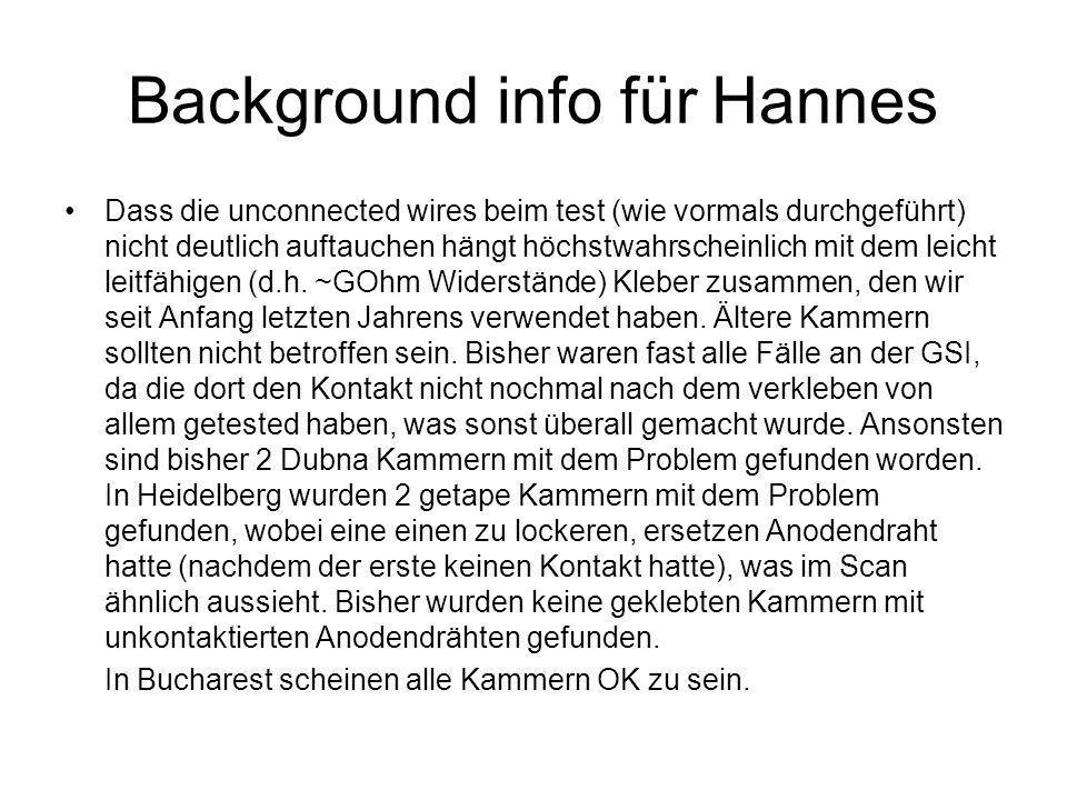 Background info für Hannes Dass die unconnected wires beim test (wie vormals durchgeführt) nicht deutlich auftauchen hängt höchstwahrscheinlich mit dem leicht leitfähigen (d.h.