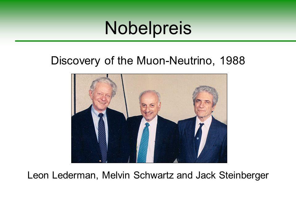Nobelpreis Discovery of the Muon-Neutrino, 1988 Leon Lederman, Melvin Schwartz and Jack Steinberger