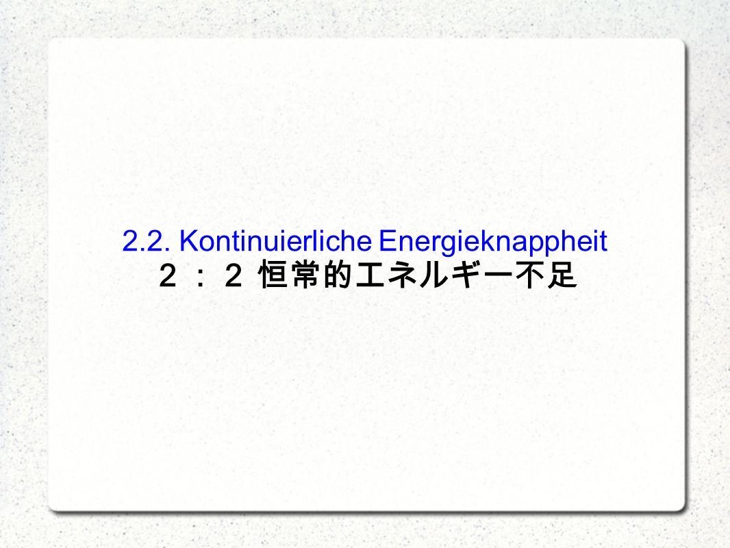 2.2. Kontinuierliche Energieknappheit