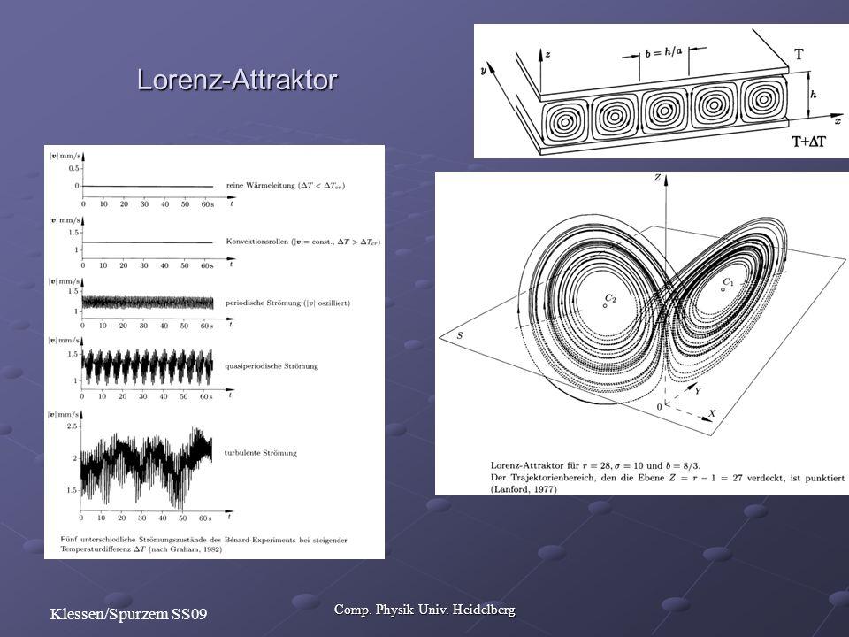 Comp. Physik Univ. Heidelberg Klessen/Spurzem SS09 Lorenz-Attraktor
