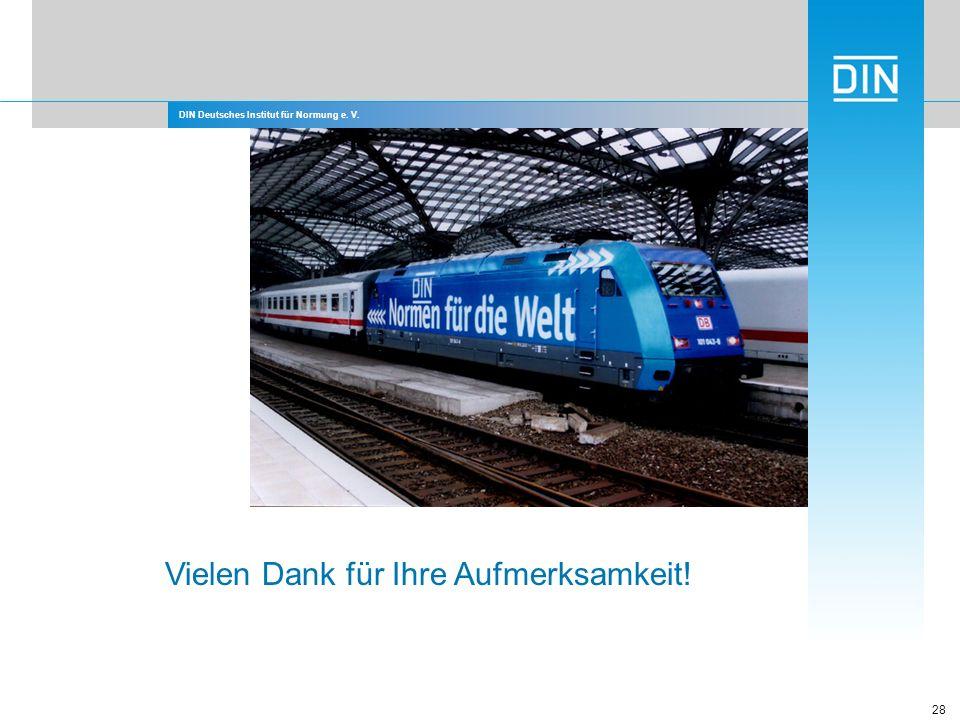DIN Deutsches Institut für Normung e. V. 28 Vielen Dank für Ihre Aufmerksamkeit!