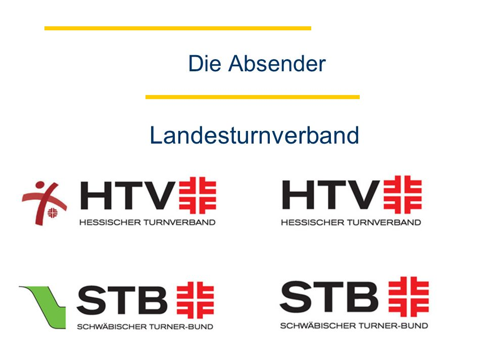 Die Absender Turngau/Turnverband