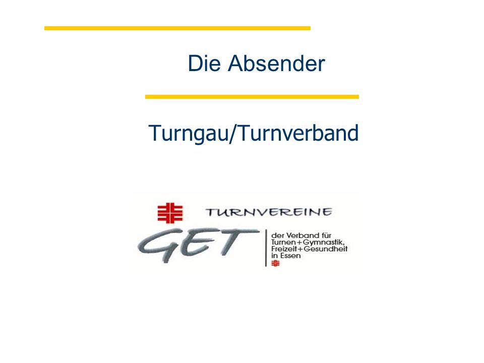 Die Absender Turngau/Turnverband