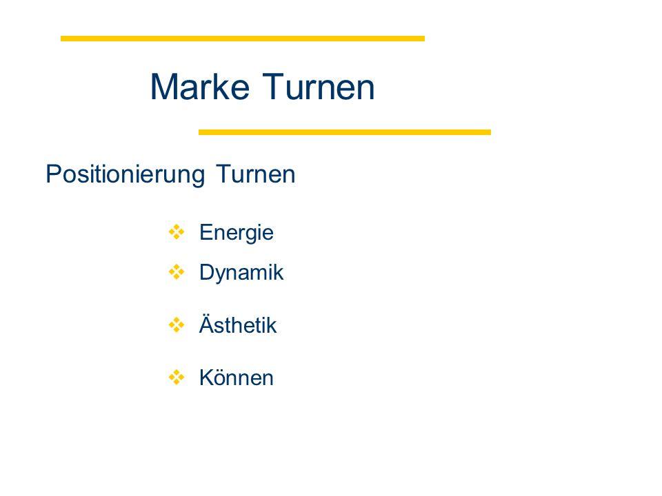 Marke Turnen Energie Dynamik Ästhetik Können Positionierung Turnen