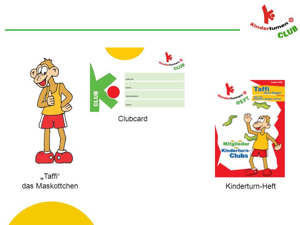 Taffi das Maskottchen Clubcard Kinderturn-Heft
