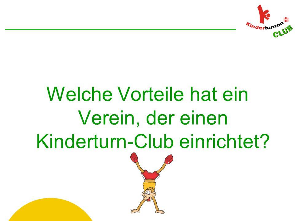 Welche Vorteile hat ein Verein, der einen Kinderturn-Club einrichtet