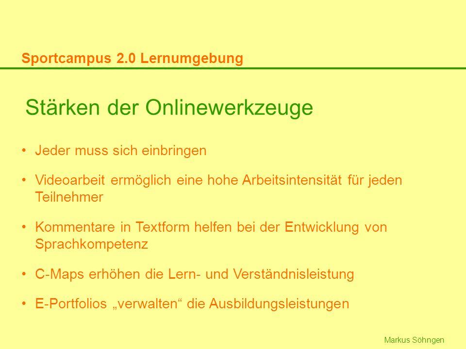Markus Söhngen Stärken der Onlinewerkzeuge Jeder muss sich einbringen Videoarbeit ermöglich eine hohe Arbeitsintensität für jeden Teilnehmer Kommentar