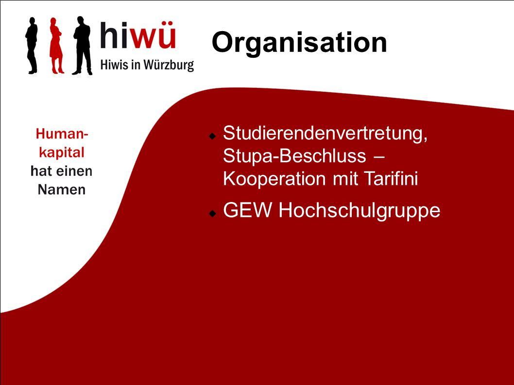 Organisation Studierendenvertretung, Stupa-Beschluss – Kooperation mit Tarifini GEW Hochschulgruppe