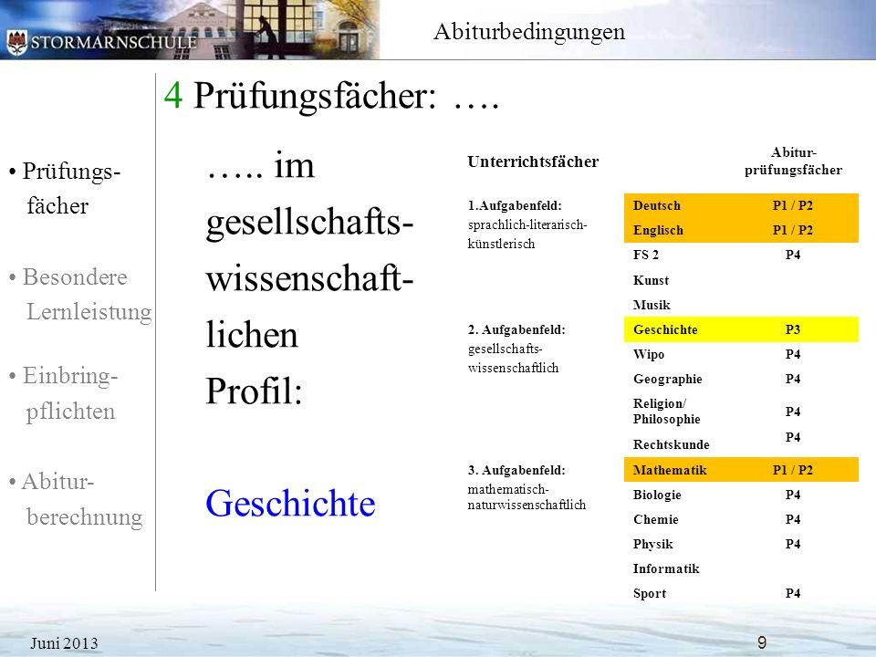 Prüfungs- fächer Besondere Lernleistung Einbring- pflichten Abitur- berechnung Abiturbedingungen 5 Prüfungsfächer: ….