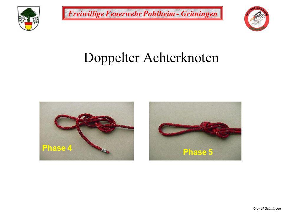 Freiwillige Feuerwehr Pohlheim - Grüningen © by JFGrüningen Phase 4 Phase 5 Doppelter Achterknoten