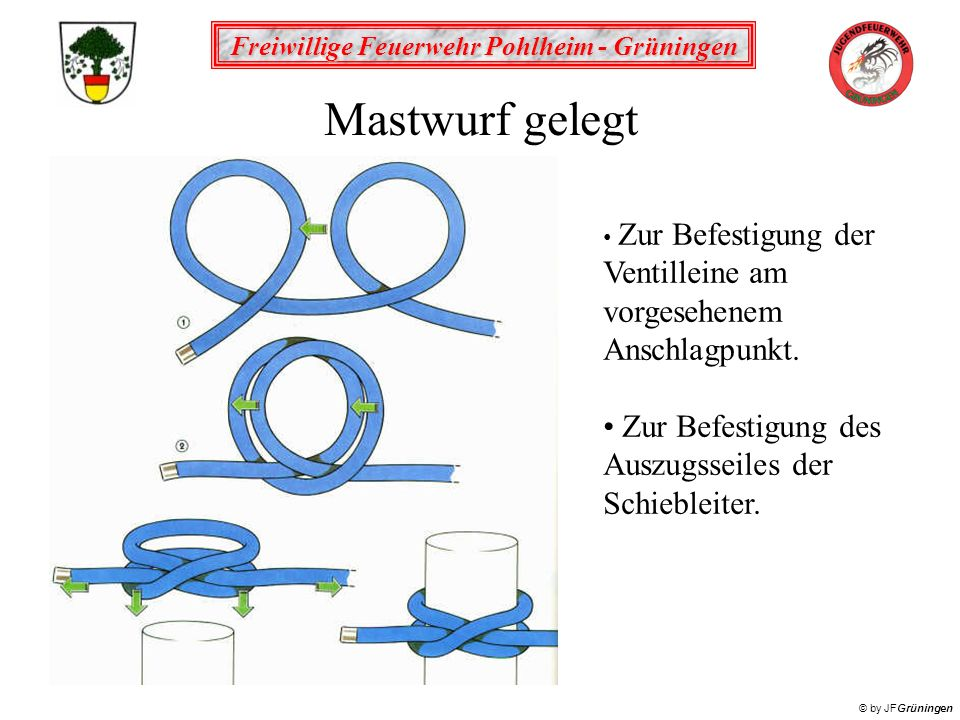 Freiwillige Feuerwehr Pohlheim - Grüningen © by JFGrüningen Mastwurf gestochen