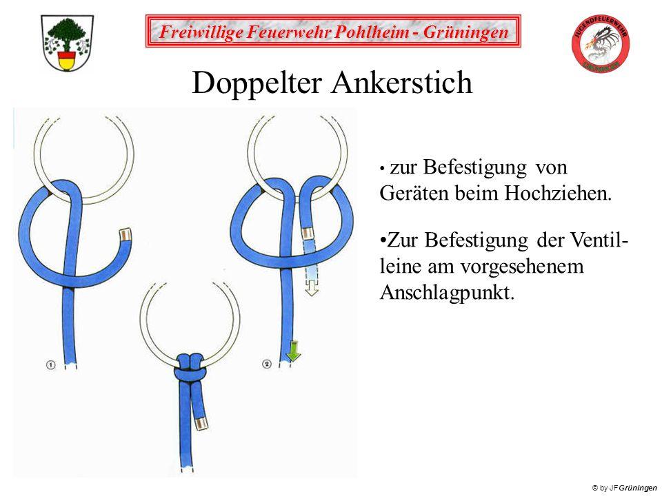 Freiwillige Feuerwehr Pohlheim - Grüningen © by JFGrüningen Doppelter Ankerstich zur Befestigung von Geräten beim Hochziehen.