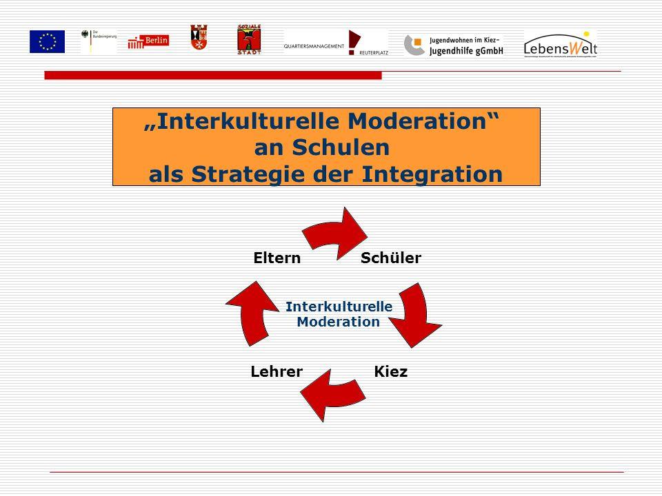Interkulturelle Moderation an Schulen als Strategie der Integration Schüler KiezLehrer Eltern Interkulturelle Moderation