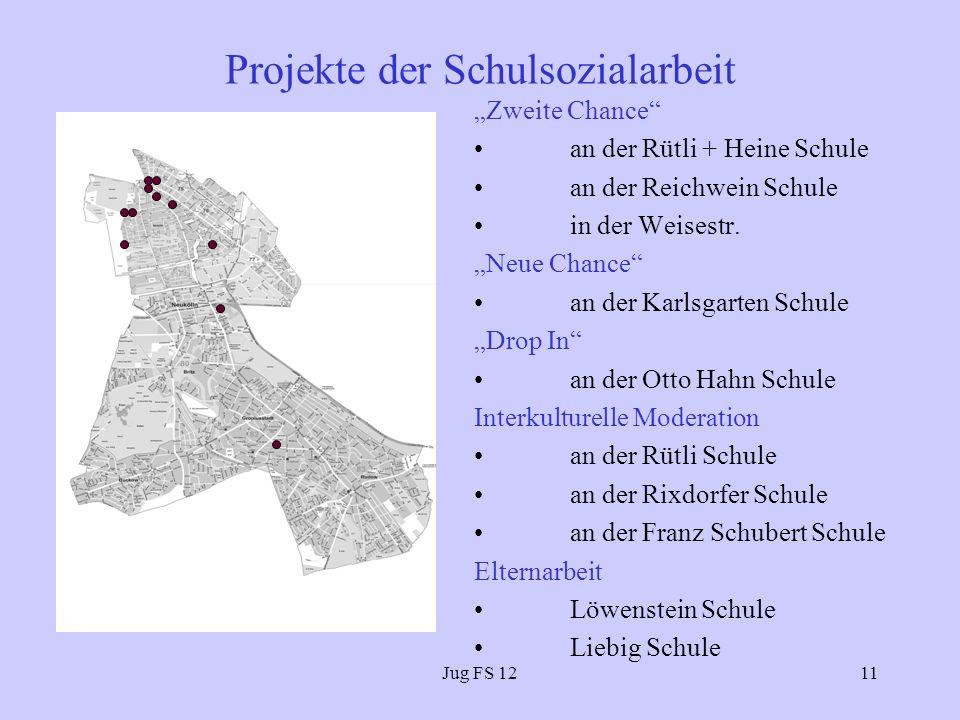 Jug FS 1211 Projekte der Schulsozialarbeit Zweite Chance an der Rütli + Heine Schule an der Reichwein Schule in der Weisestr.