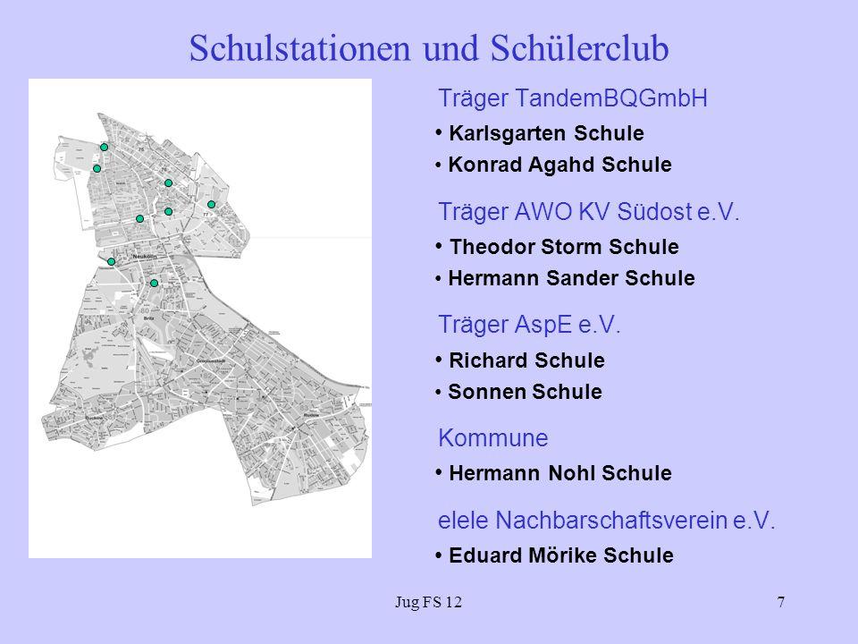 Jug FS 127 Schulstationen und Schülerclub Träger TandemBQGmbH Karlsgarten Schule Konrad Agahd Schule Träger AWO KV Südost e.V.