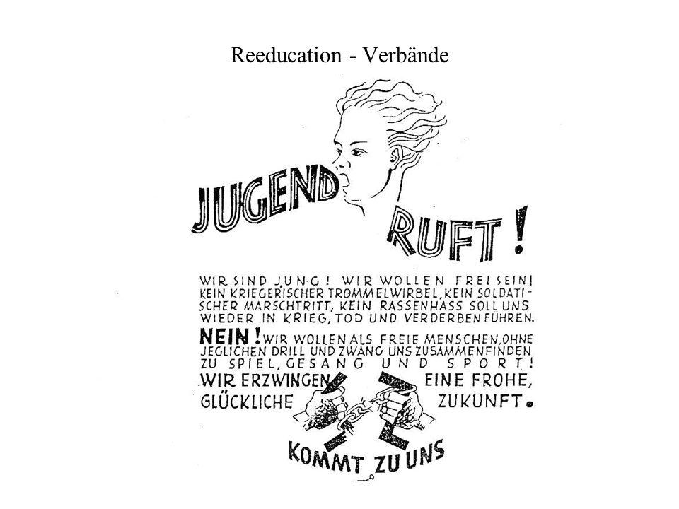 Wiederaufbau-Kids in der Gruppenstunde ab 1946 Wiederaufbau der demokratischen Jugendverb ä nde und der Jugendwohlfahrtsaussch ü sse durch westl.