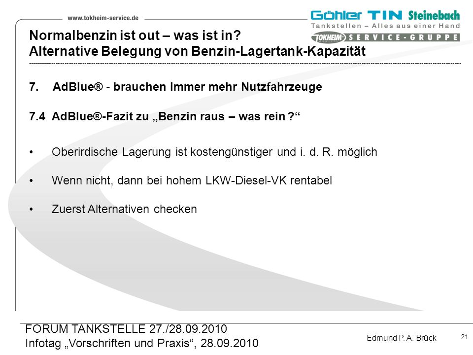 Normalbenzin ist out – was ist in.
