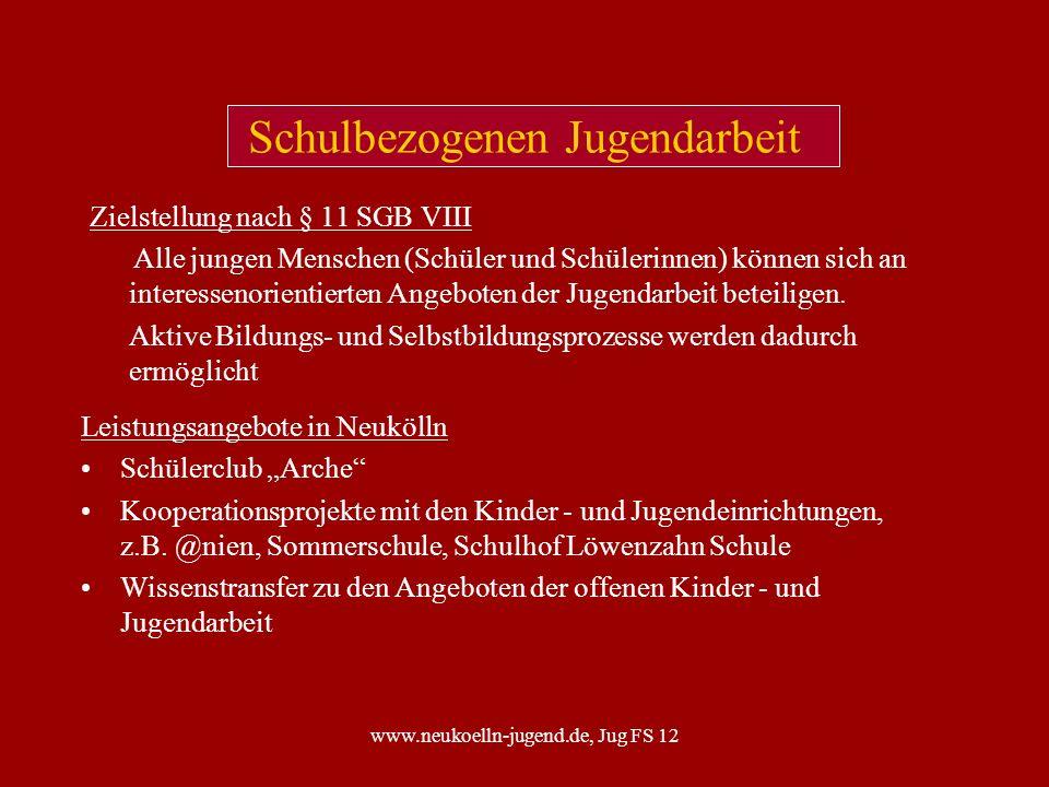 www.neukoelln-jugend.de, Jug FS 12 Auswertung der Bestandsfeststellung zur Kooperation Schule - JFE, Schuljahr 05/06