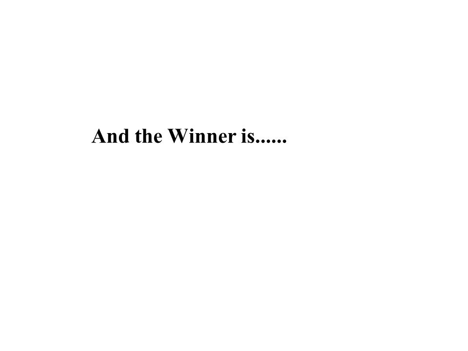 And the Winner is......
