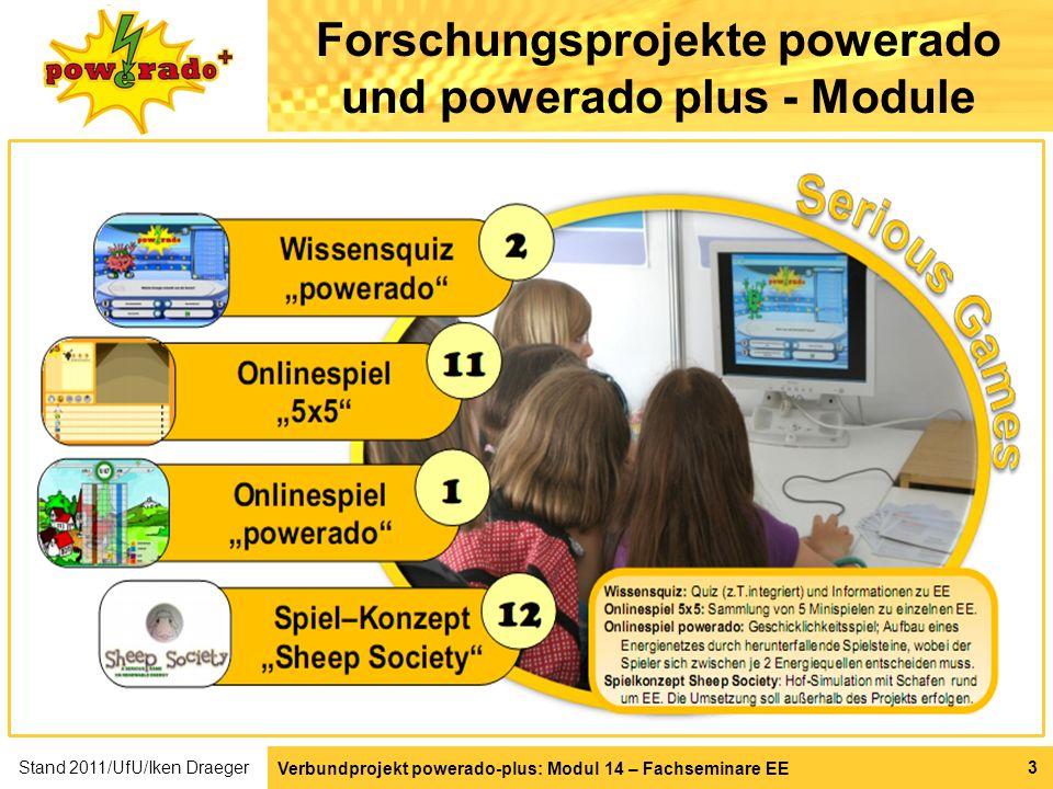 Verbundprojekt powerado-plus: Modul 14 – Fachseminare EE 4 Forschungsprojekte powerado und powerado plus - Module Stand 2011/UfU/Iken Draeger