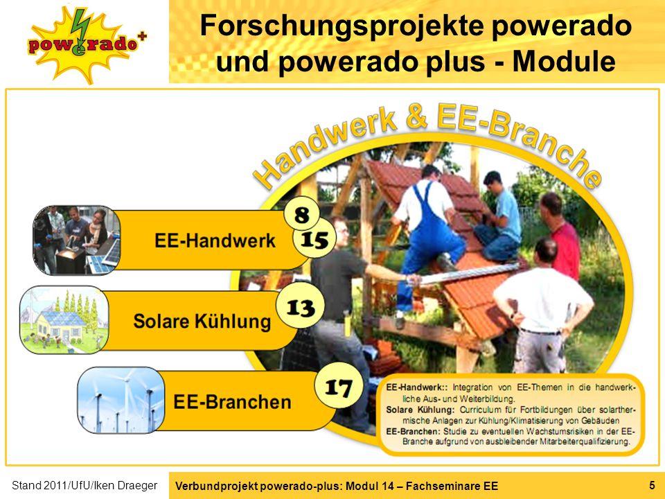 Verbundprojekt powerado-plus: Modul 14 – Fachseminare EE 5 Forschungsprojekte powerado und powerado plus - Module Stand 2011/UfU/Iken Draeger