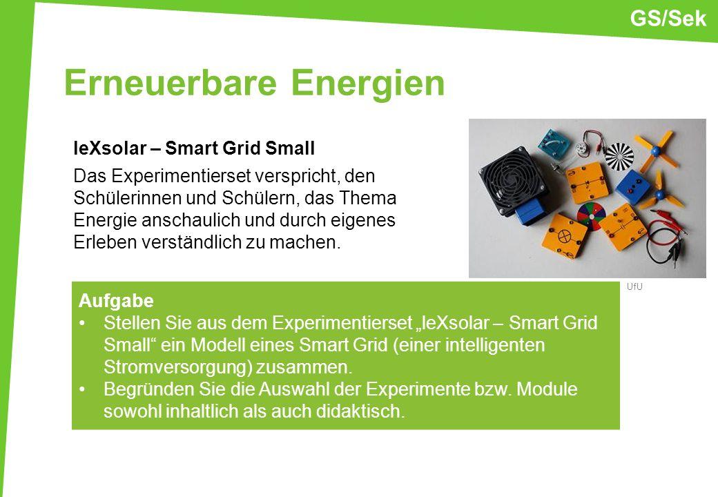 Erneuerbare Energien leXsolar – Smart Grid Small Das Experimentierset verspricht, den Schülerinnen und Schülern, das Thema Energie anschaulich und dur