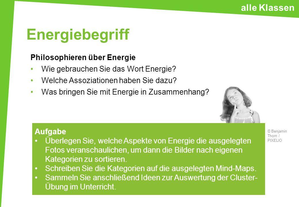 Energiebegriff Philosophieren über Energie Wie gebrauchen Sie das Wort Energie? Welche Assoziationen haben Sie dazu? Was bringen Sie mit Energie in Zu