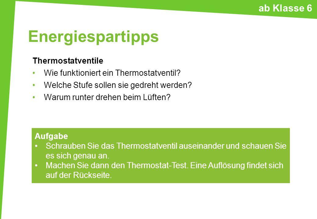 Energiespartipps Thermostatventile Wie funktioniert ein Thermostatventil? Welche Stufe sollen sie gedreht werden? Warum runter drehen beim Lüften? Auf