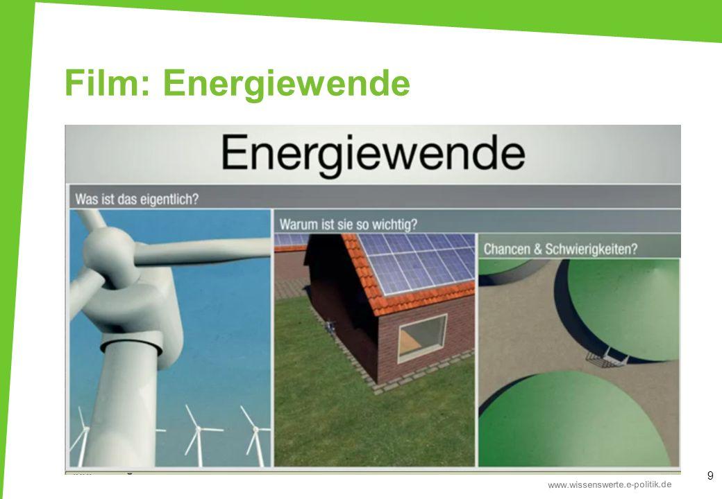 Die drei Säulen der Energiepolitik Emissions- minderung 80-95 % der Treibhausgas- emissionen zu reduzieren Erneuerbare Energien den Anteil der erneuerbaren Energien am Brutto- endenergie- verbrauch auf 60 % zu steigern Energiesparen und Energieeffizienz den Primärenergie- verbrauch um 50 % zu verringern 10 Die Bundesregierung hat sich zum Ziel gesetzt bis 2050… Die drei Ziele sind voneinander abhängig.