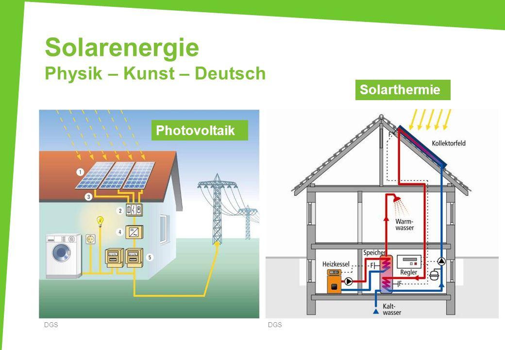 Solarenergie Physik – Kunst – Deutsch DGS Photovoltaik Solarthermie