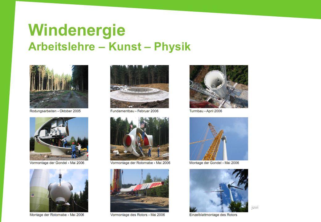 Windenergie Arbeitslehre – Kunst – Physik juwi