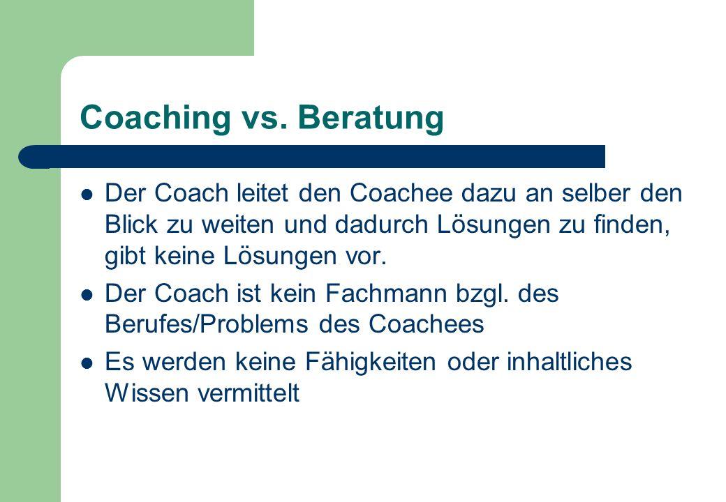 Coaching vs.