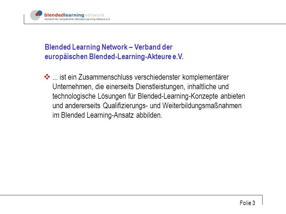 Folie 3 Blended Learning Network – Verband der europäischen Blended-Learning-Akteure e.V....