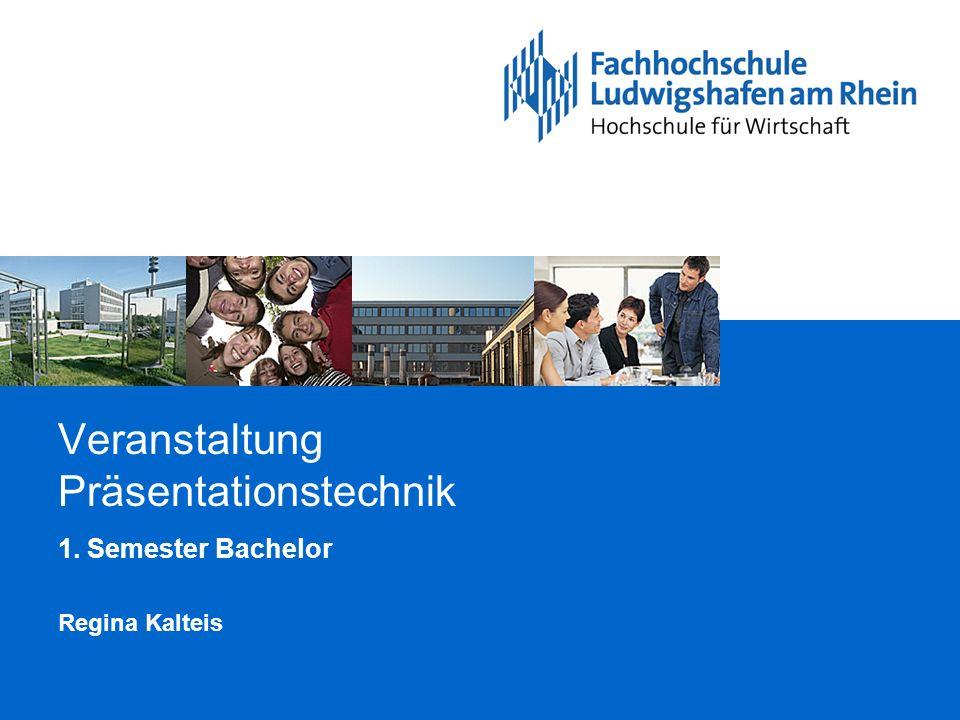 Veranstaltung Präsentationstechnik 1. Semester Bachelor Regina Kalteis