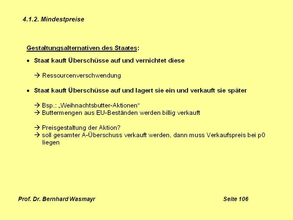 Prof. Dr. Bernhard Wasmayr Seite 106 4.1.2. Mindestpreise