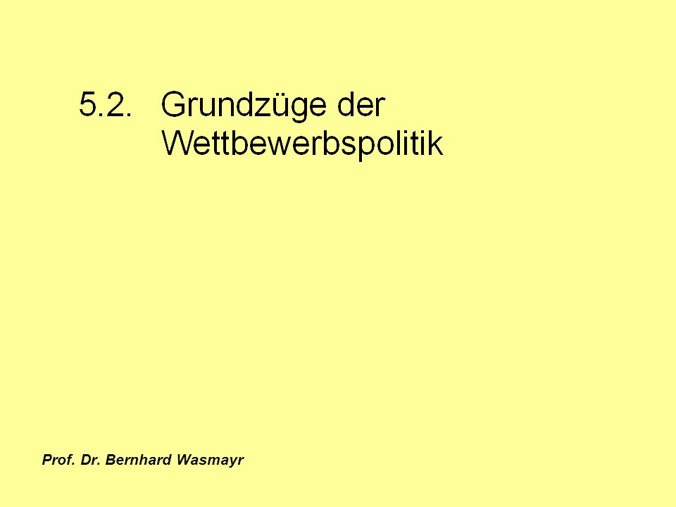 Prof. Dr. Bernhard Wasmayr