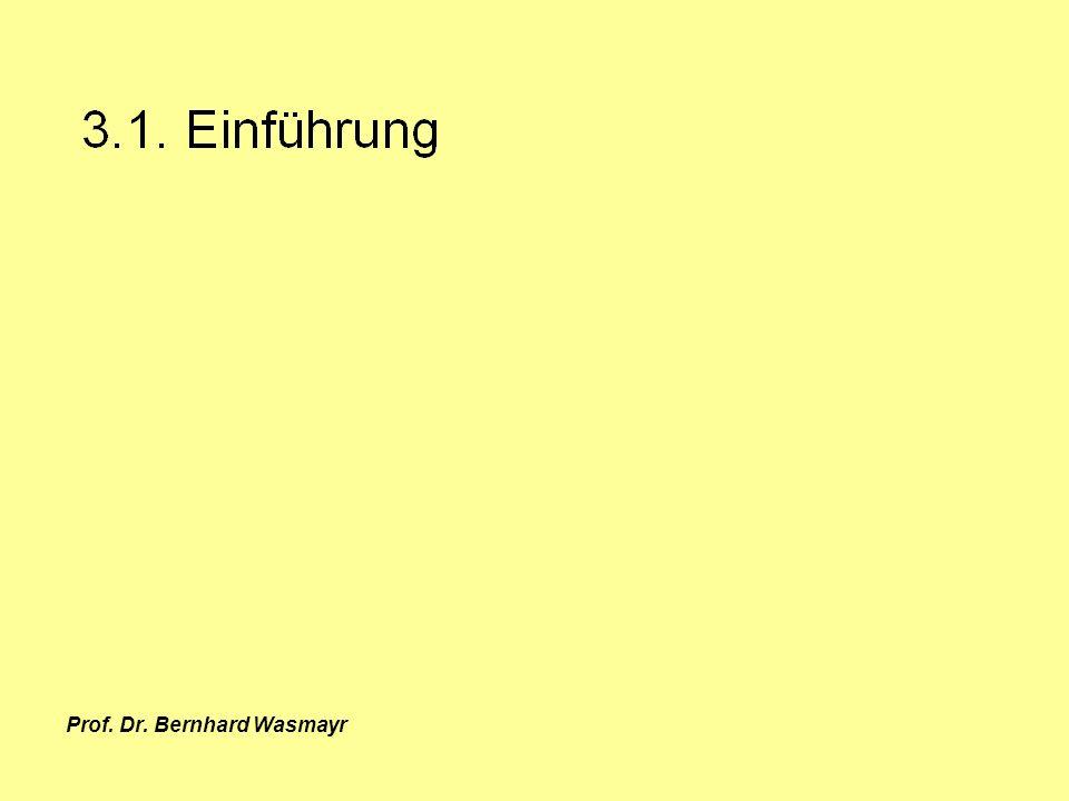 Prof. Dr. Bernhard Wasmayr Seite 57 3.1. Einführung