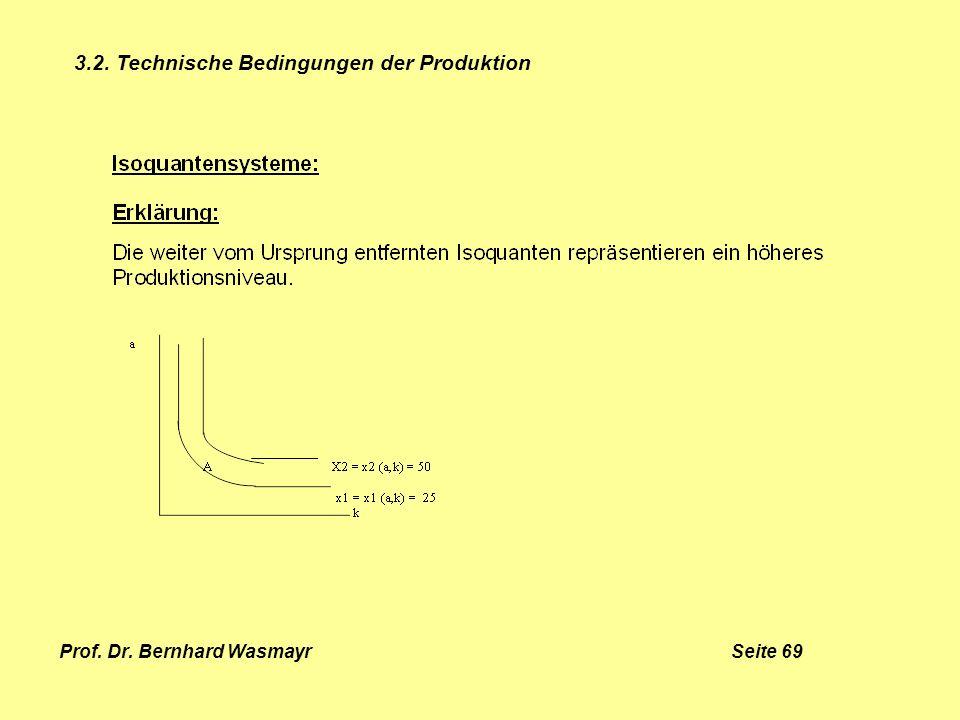 Prof. Dr. Bernhard Wasmayr Seite 69 3.2. Technische Bedingungen der Produktion