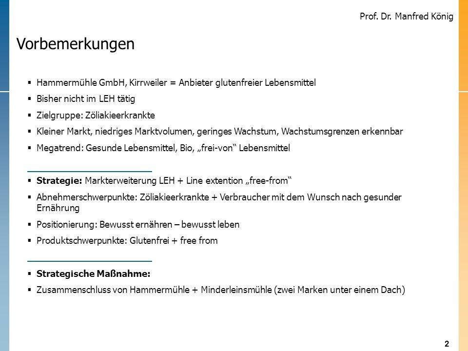 2 Prof. Dr. Manfred König Schär erweitert glutenfreies Produktsortiment durch Akquisition Schär erweitert glutenfreies Produktsortiment durch Akquisit