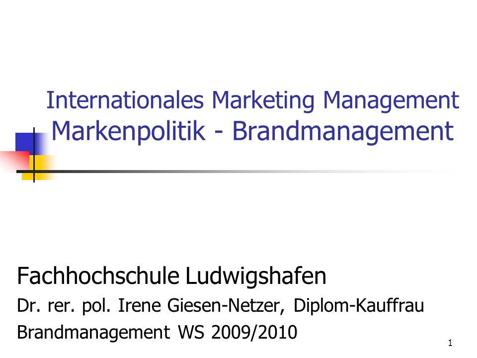 Dr.Irene Giesen-Netzer141 Markenphilosophie Markenleitbild Das Markenleitbild ist...