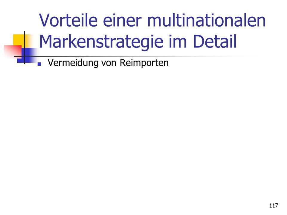 Dr. Irene Giesen-Netzer116 Vorteile einer multinationalen Markenstrategie im Detail Erzielung eines hohen Marktdurchdringungsgrades Anpassung an lande