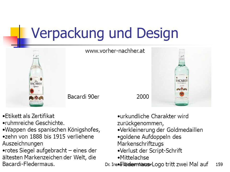 Dr. Irene Giesen-Netzer158 Verpackung und Design Die multisensuale Gestaltung beeinflusst das Gefallen und die Beurteilung der Marke zunehmend Die Ver