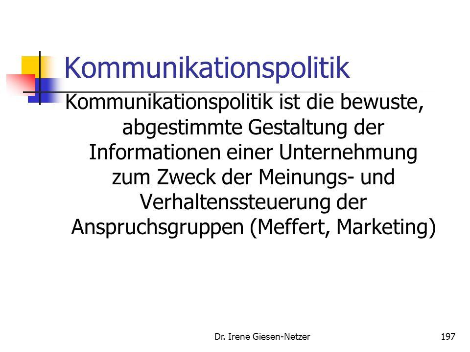Dr. Irene Giesen-Netzer196 Preispolitik Coupons Couponing nimmt zu Marktvolumen hat sich im ersten Halbjahr 2007 verdoppelt (Gesamtjahr 2007 etwa 5 Mi