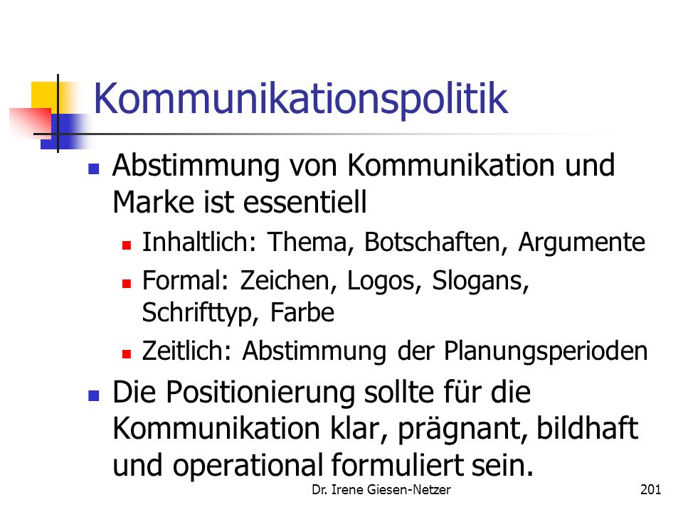 Dr. Irene Giesen-Netzer200 Kommunikationspolitik Beispiele aus der Endmark Studie: Douglas: Come in and find out: Komme herein und finde auch wieder h