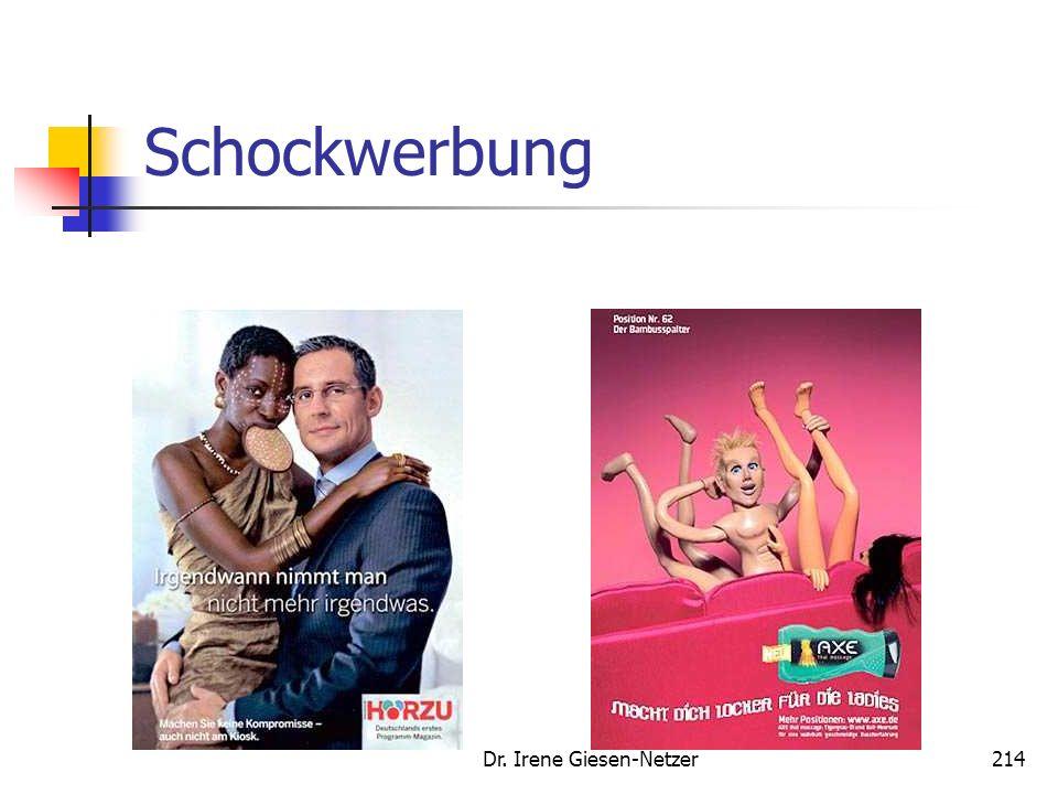 Dr. Irene Giesen-Netzer213 Schockwerbung